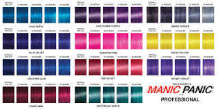 Manic Panic Blue Color Chart Image Result For Manic Panic Mixing Chart In 2019 Manic