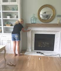 building a fireplace surround with diy wood beam mantel