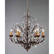 impressive bronze crystal chandelier antique bronze 6 light crystal and iron chandelier