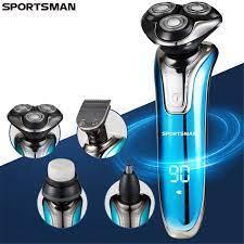 3 başlı Yıkanabilir Elektrikli Tıraş Makinesi 4IN1 Sakal Düzeltici Çok  Fonksiyonlu erkekler jileti Tıraş Makinesi Yüz Vücut Bakımı Elektrikli Tıraş  Makinesi|Hair Trimmers