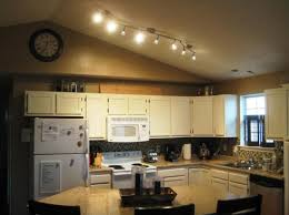 track lighting kitchen sloped ceiling