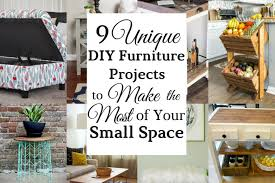 unique diy furniture.  Diy 9 Unique Furniture DIYu0027s To Make The Most Of Your Small Space   LiveLoveJillian In Diy W