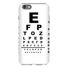 Eye Chart On Phone Eye Test Chart Iphone 6 Plus 6s Plus Tough Case