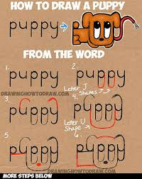 Small Picture Learn How to Draw a Cartoon Puppy from the Word Puppy Simple