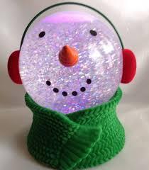 Lighted Snowman Snow Globe