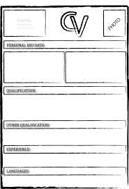 Resume Example Blank Cv Template Download Free Free Blank Resume