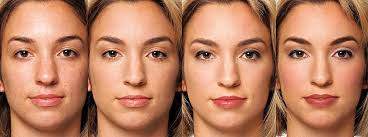 in a study women were photographed wearing varying amounts of makeup from left barefaced natural professional and glamorous