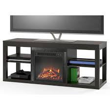 electric media center tv stand fireplace insert for tvs up to 65