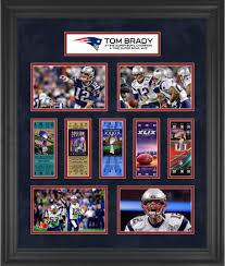 tom brady new england patriots framed 23 x 27 5 time super bowl champion ticket collage
