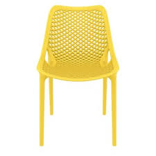 Image Fun Curnutt Stacking Patio Dining Chair set Of 2 Allmodern Modern Yellow Outdoor Dining Chairs Allmodern