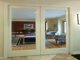 interior glass doors home depot double large glass pocket door home depot with white frame and