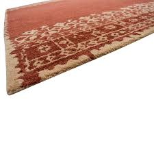 pottery barn pottery barn desa bordered tan and red wool rug tan red