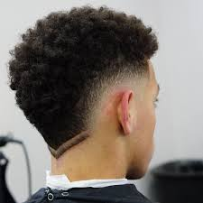Burst Fade With Design Burst Fade Haircut For Curly Hair Fashq