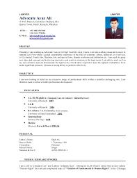 LAWYER LAWYER Advocate Ayaz Ali A-845, Phase-I, ...
