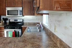 Painting Kitchen Tile Backsplash Enchanting Faux Tile Back Splash With Paint Welcome To The Woods