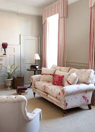 Striped Living Room Curtains Living Room With A Window Curtain Striped And Valence Duo Home