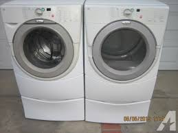 whirlpool duet washer dryer. Unique Dryer Whirlpool Duet Set Clean Front Load Washer Gas Dryer W  Pedestals For For A