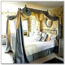 Canopy Full Size Bed Canopy Bed Frame Bed Frame With Curtains Full ...