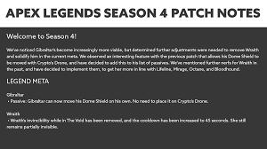 Apex Legends Season 4 Patch Notes ...