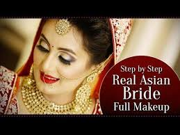 10 15 real asian bridal makeup tutorial step by step indian bridal makeup with golden glitter eyes