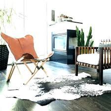 animal skin rugs faux hide rug cabin lodge rustic decor area southwestern cow nz fur r