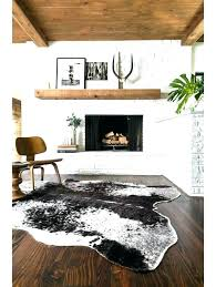 hide rug cowhide rugs speckled black acrylic for ikea canada cowh