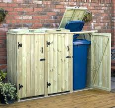 outdoor garbage can storage ideas trash shed plans