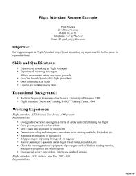 Resume Samples For Flight Attendant Position Resume Template Resume Format For Flight Attendant Free Career 6