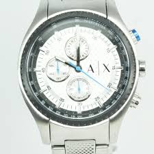 mens stainless steel armani exchange watch property room mens stainless steel armani exchange watch