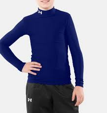 under armour shirts for boys. boys\u0027 coldgear® compression mock, royal under armour shirts for boys