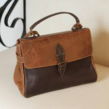 leather handbag in chestnut and espresso from mexico traditional vanguard
