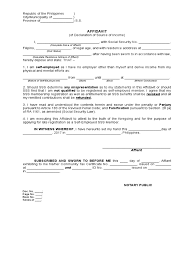 Affidavit Of Declaration Of Source Of Income Self Employed Doc