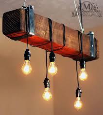 industrial chandelier lighting. Rustic Beam Chandelier Industrial Lighting N