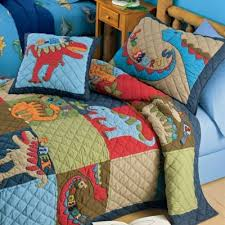 boy twin quilt bed | Dinosaur Kids Bedding | toddler-bunk-beds.com ... & Kids Nursery Bedding Room on Scaryosaurus Quilt And Dinosaur Land Bedding  Kids Decorating Ideas Adamdwight.com