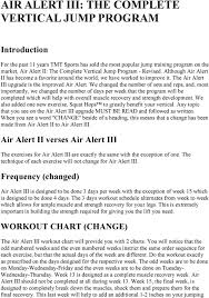 Air Alert Iii The Complete Vertical Jump Program Pdf Free