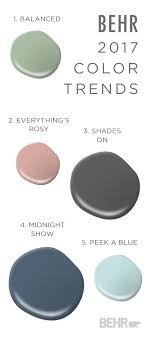 Trending Paint Colors For Living Rooms This Paint Combination Of Balanced Everythings Rosy Shades On