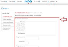 apply IHOP online step 5