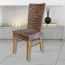 sku sure1244 statement prints leopard dining chair cover is also sometimes listed under the following manufacturer numbers sc3622leodin