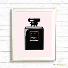 chic coco chanel perfume bottle office