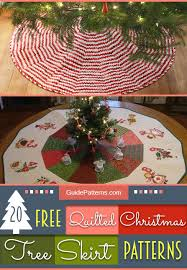 20 Free Quilted Christmas Tree Skirt Patterns | Guide Patterns &  Adamdwight.com