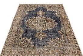 turkish natural over dyed vintage rug 1960s 3