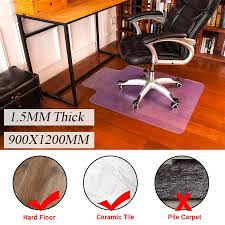 dels about plastic 48 x 36 home office puter work chair mat pvc matte floor protector