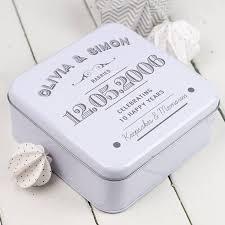 personalised wedding anniversary keepsakes tin