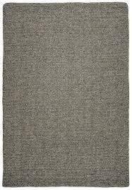 natural wool loom hooked rug solid light grey