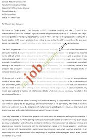Cover Letter Sample Computer Science Sample Cover Letter For Phd Application In Computer Science