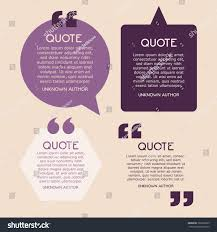 Creative Quotes Text Template Layout Stock Vector Royalty Free