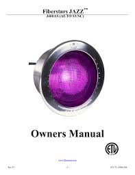 Fiberstars Light Bulbs Owners Manual