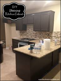 tea staining unfinished oak cabinet diy staining kitchen cabinets dark espresso staining