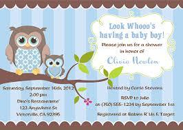 Boy Owl Baby Shower Invitations 2008Owl Baby Shower Invitations For Boy
