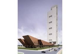 office block design. The 46-floor Office Tower And Six-storey Podium Sit Atop A 4-level Underground Carpark. Block Design I